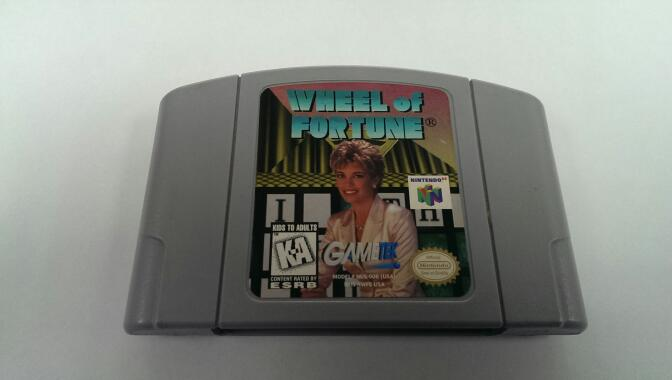 NINTENDO N64 WHEEL OF FORTUNE VIDEO GAME