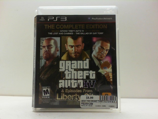 SONY Sony PlayStation 3 Game GRAND THEFT AUTO IV & EPISODES FROM LIBERTY CITY