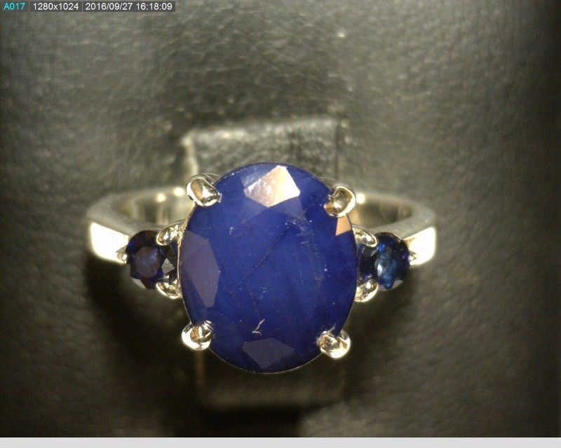 Blue Stone Lady's Silver & Stone Ring 925 Silver 2.75dwt Size:6