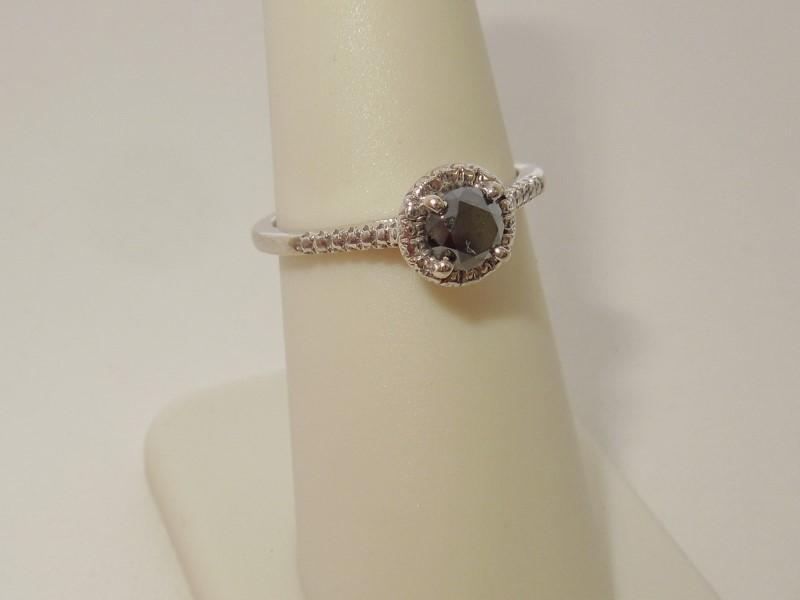 Lady's Diamond Fashion Ring .50 CT. 14K White Gold 2.3g