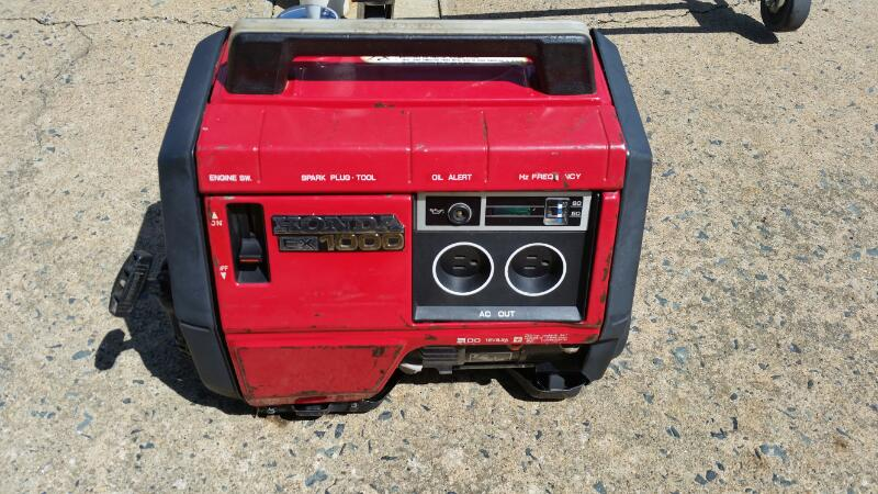 HONDA EX1000 GENERATOR,GAS POWERED
