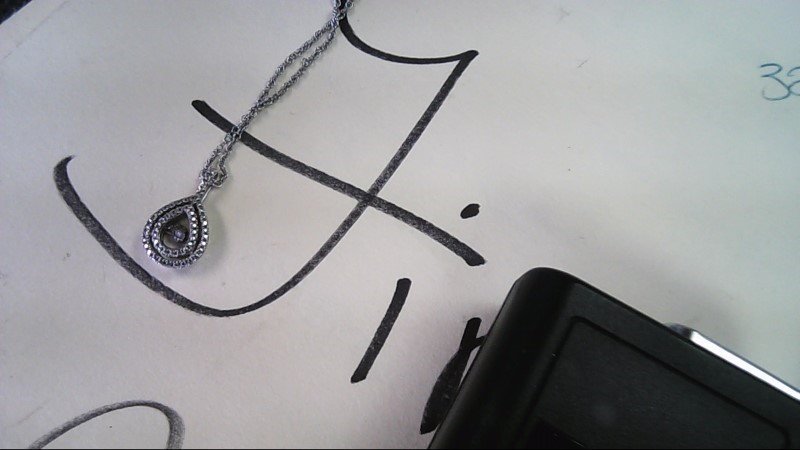 Diamond Necklace .03 CT. 925 Silver 3g