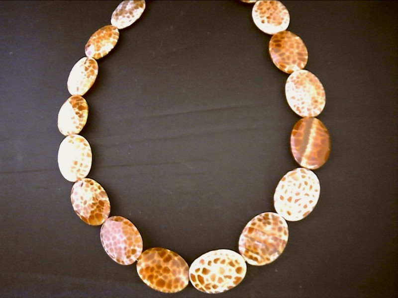 NECKLACE JEWELRY JEWELRY; LARGE FACETED FIRE AGATE DISKS
