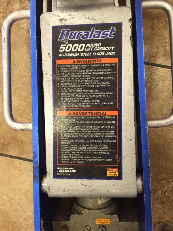 DURALAST Miscellaneous Tool 5000 POUND FLOOR JACK