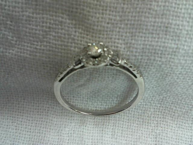 Lady's Diamond Wedding Set 9 Diamonds .18 Carat T.W. 10K White Gold 2.4g