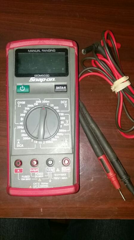 SNAP ON MANUAL RANGING Multimeter MODEL EEDM503D