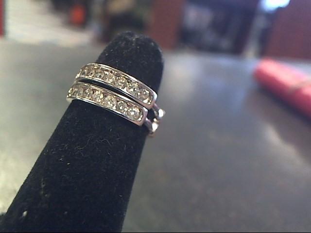 Gold-Diamond Earrings 14 Diamonds .70 Carat T.W. 10K White Gold 2.6dwt