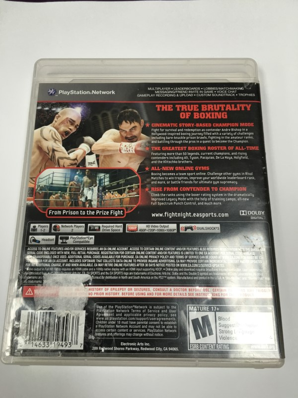 SONY PS3 FIGHT NIGHT CHAMPION (2001)
