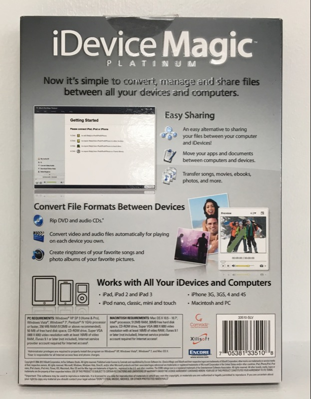 XILISOFT IDEVICE MAGIC PLATINUM EDITION Convert Software