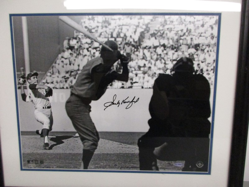 """SANDY KOUFAX AUTHENTICATED AUTOGRAPHED 16X20 PHOTO, """"WIND UP"""""""