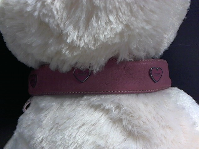 COACH PINK HEART LEATHER DOG COLLAR 24 INCHES SIZE L