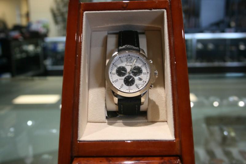 Lady's Sapient AW9819W/S 3 Dial White Watch