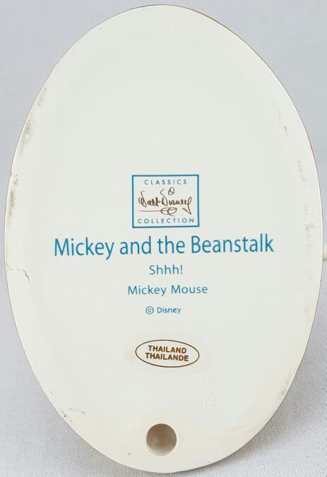 "WDCC MICKEY AND THE BEANSTALK'S ""SHHH!"" MICKEY MOUSE FIGURINE"