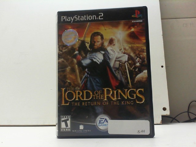 SONY Sony PlayStation 2 Game THE LORD OF THE RINGS THE RETURN OF THE KING