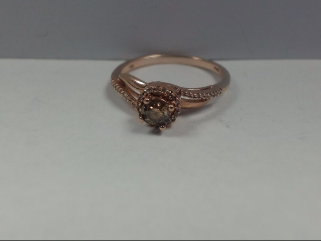 Lady's Diamond Engagement Ring .20 CT. 10K Rose Gold 1.8g