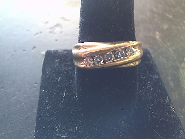 Gent's Gold-Diamond Wedding Band 5 Diamonds .50 Carat T.W. 14K Yellow Gold