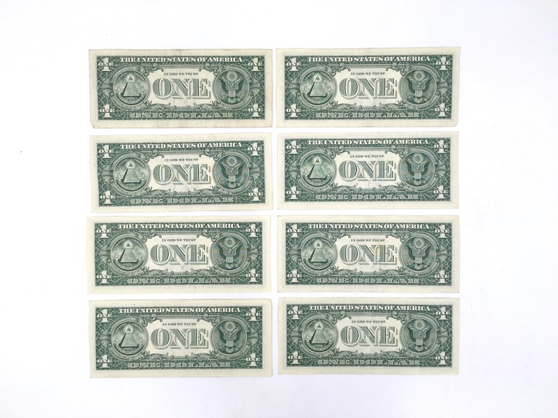 2013 $1 One Dollar STAR NOTES - Lot of 8 - Nice Collection