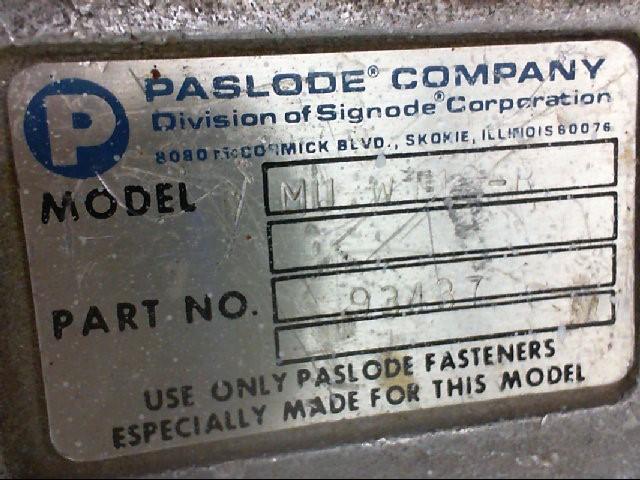 PASLODE Nailer MII W 112-K