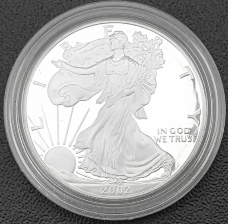 2002 AMERICAN SILVER EAGLE ONE OUNCE PROOF