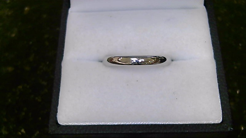14k white gold size 8.5 wed bnd