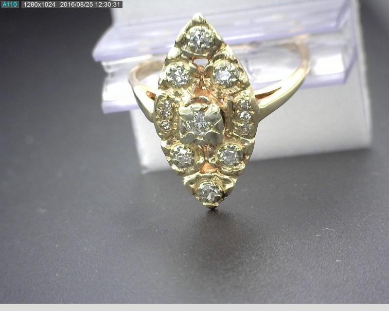 13 DIAMONDS APX .68CTW 14K YG 3.5G SZ.6