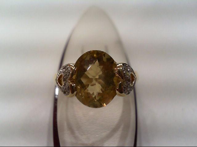 Lady's Diamond Fashion Ring 4 Diamonds .020 Carat T.W. 14K Yellow Gold 4.3g