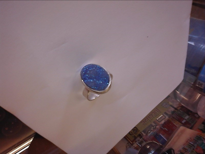 Purple Stone Lady's Silver & Stone Ring 925 Silver 3.9dwt