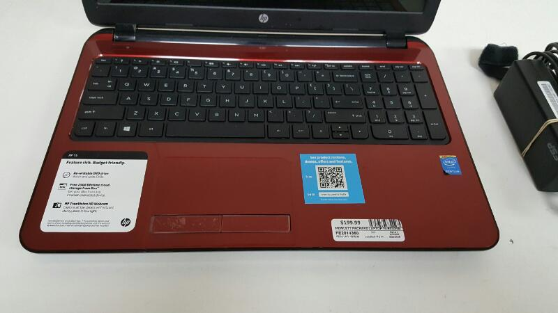 "HP 15-r030wm (Win 10, 15.6"", 500gb, 4gb, Pentium N3540 @ 2.16ghz, Red)"