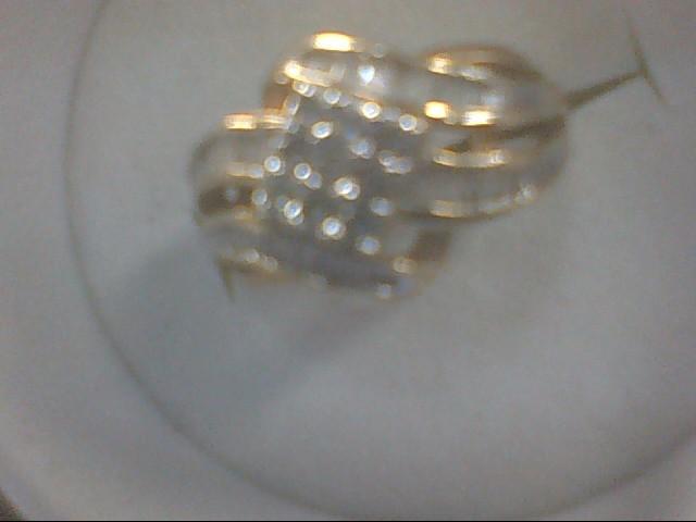Lady's Diamond Cluster Ring 37 Diamonds .37 Carat T.W. 10K Yellow Gold 2.1g