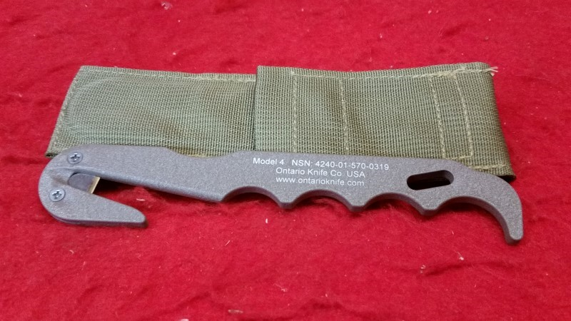 Ontario Model 4 Strap Cutter/Rescue Tool - 499 Coyote Tan