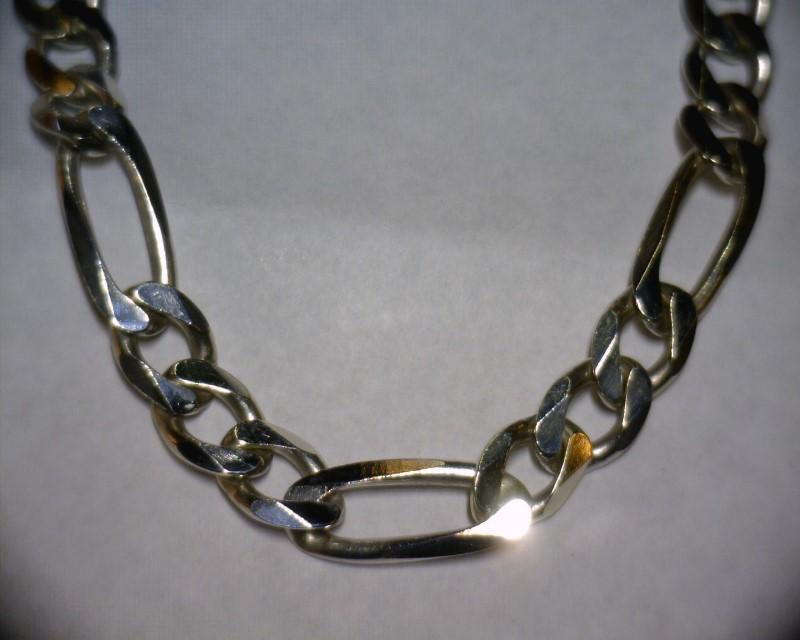 """20"""" Silver Figaro Chain 925 Silver 46.1dwt"""