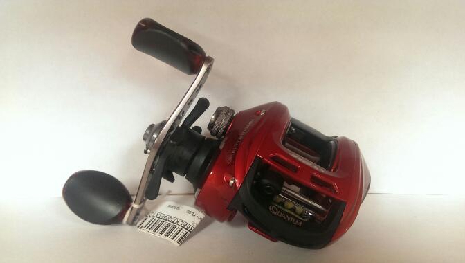 Quantum Kinetic PT Fishing Reel | Red Metallic KT100SPTA