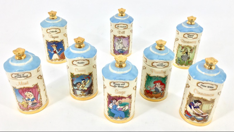 WALT DISNEY Lenox 1995 Disney 24 Piece Spice Jar Collection Set