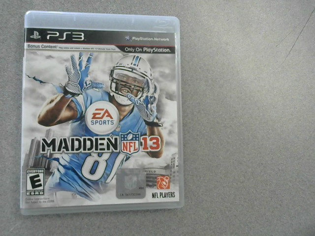 SONY Sony PlayStation 3 Game MADDEN NFL 13 - PS3