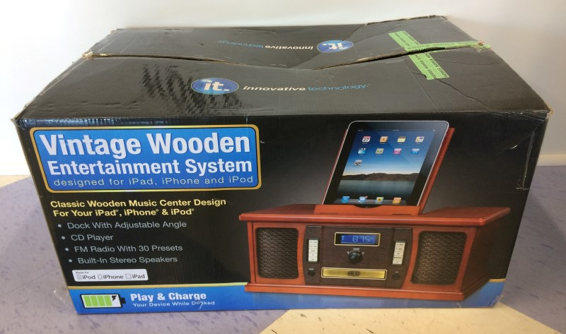 Innovative Technology iPad/iPod Dock Vintage Style Radio