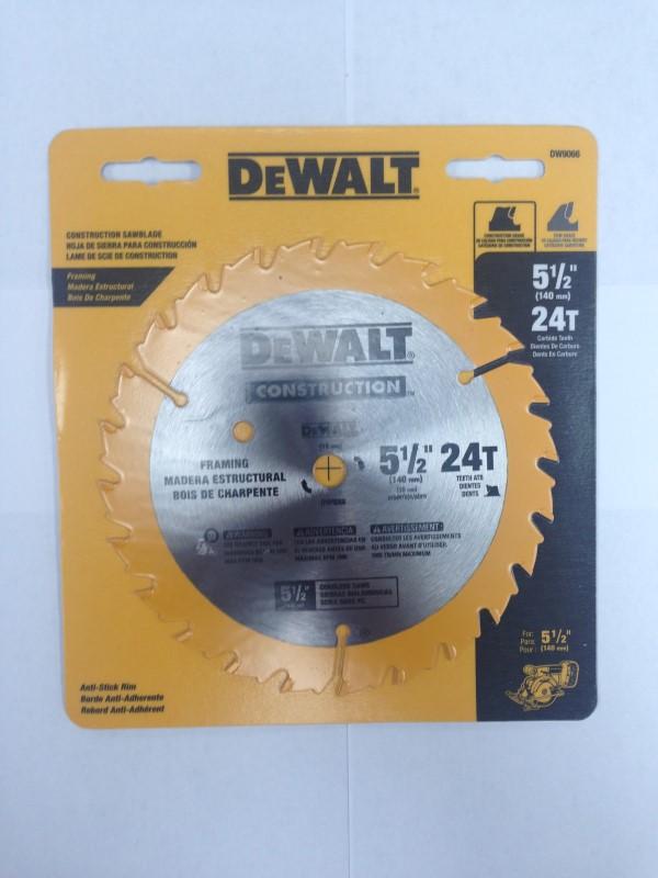 """DEWALT 5 1/2"""" 24T SAWBLADE DW9066"""