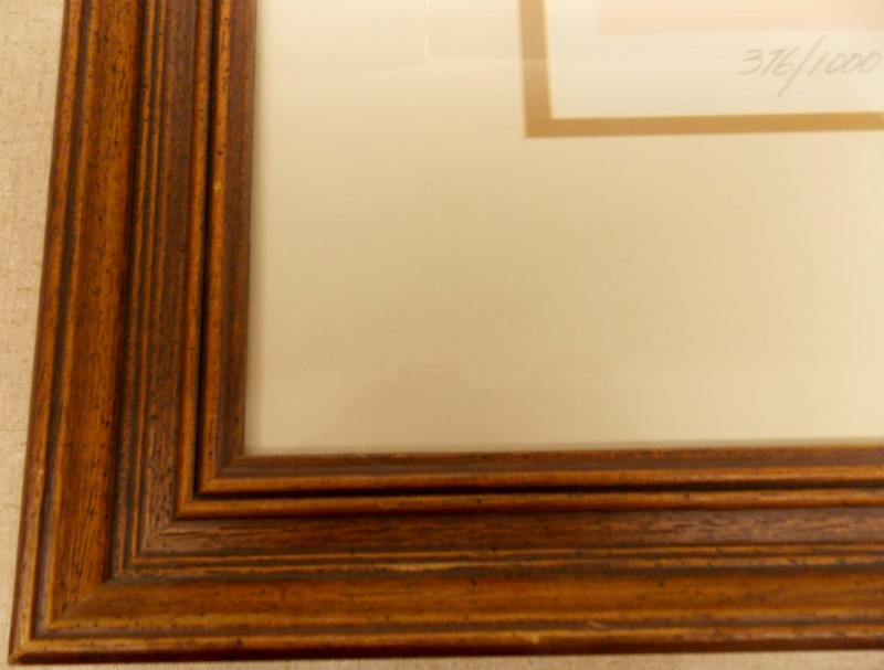 """FRED STONE """"PATIENCE"""" FRAMED SIGNED NUMBERED 376/1000 PRINT - SIZE 33 1/2"""" X 28"""""""