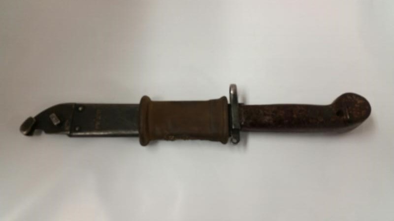 AKM TYPE 1 BAYONET, WITH SCABBARD, PRODUCED IN 1959