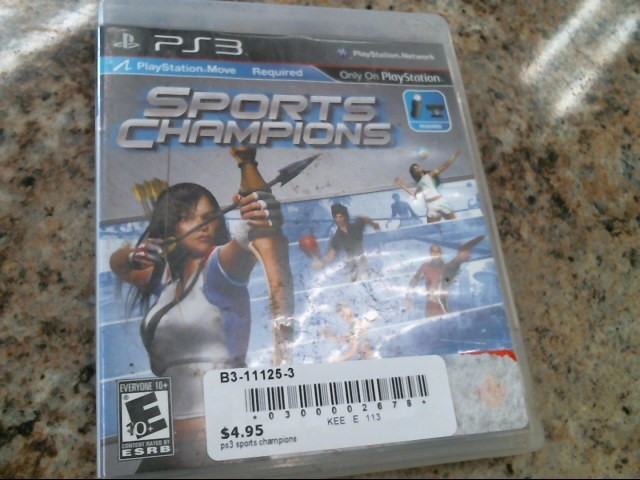 SONY Sony PlayStation 3 Game SPORTS CHAMPIONS