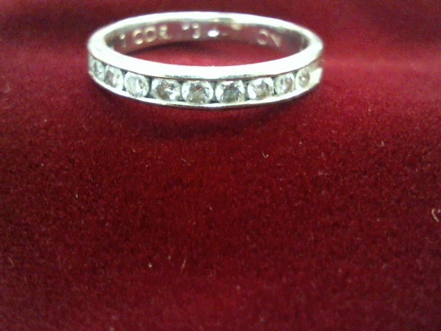 Lady's Diamond Engagement Ring 12 Diamonds .60 Carat T.W. 14K White Gold 2.2g