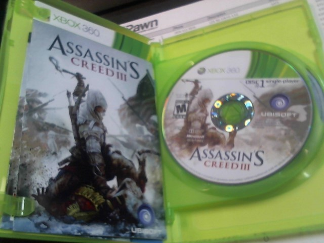 MICROSOFT Microsoft XBOX 360 Game ASSASSINS CREED III - XBOX 360