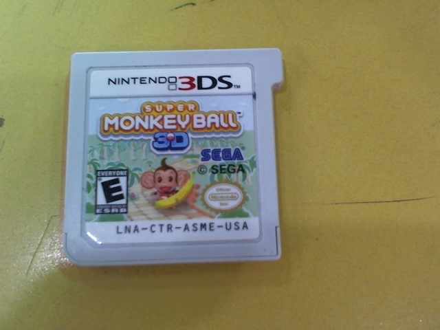 NINTENDO Nintendo 3DS Game SUPER MONKEY BALL 3D