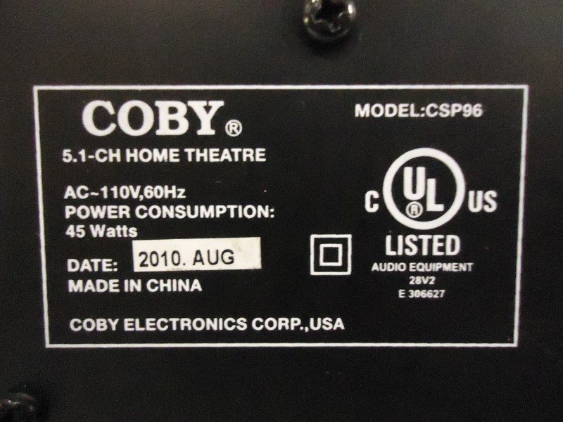 COBY Home Media System CSP96