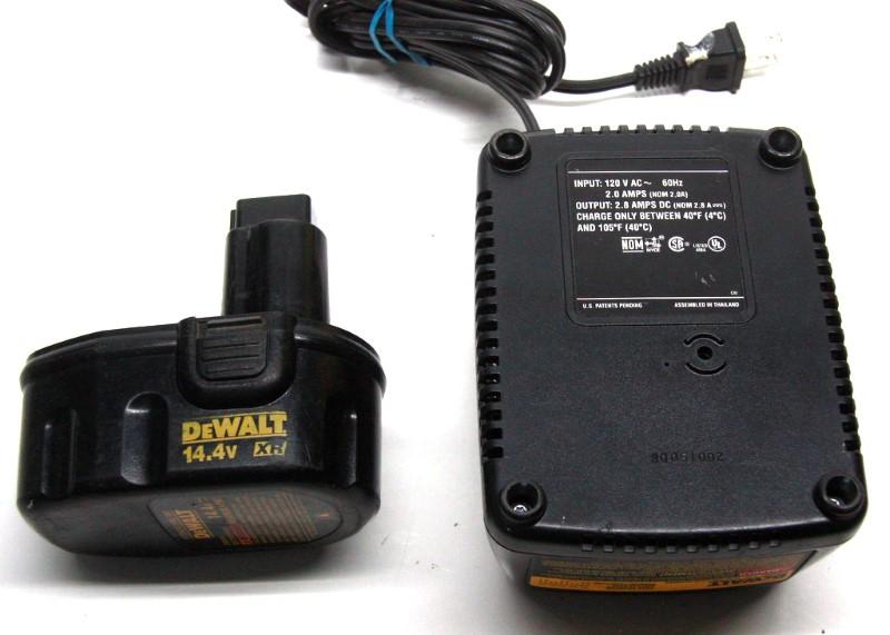 DEWALT DW9091 14.4V XR BATTERY & CHARGER