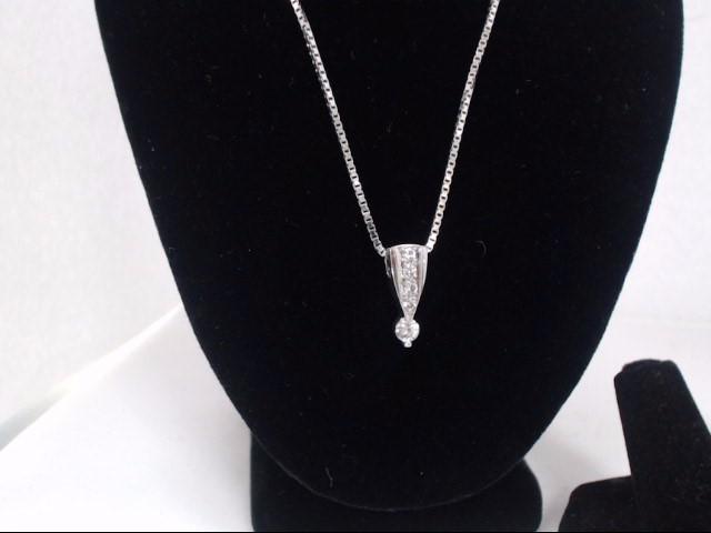 Diamond Necklace .20 CT. 14K White Gold 6.2g