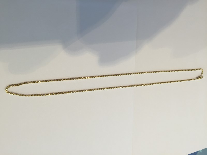 "24"" DIA CUT ROPE CHAIN 10K YELLOW GOLD 7.37g"