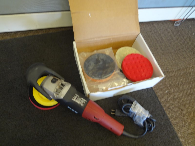 FLEX L 3403 VRG CORDED ROTARY POLISHER WITH BOX OF EXTRA SMART PADS