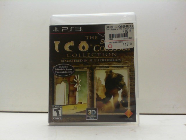 SONY Sony PlayStation 3 Game LA COLLECTION ICO & SHADOW OF THE COLOSSUS