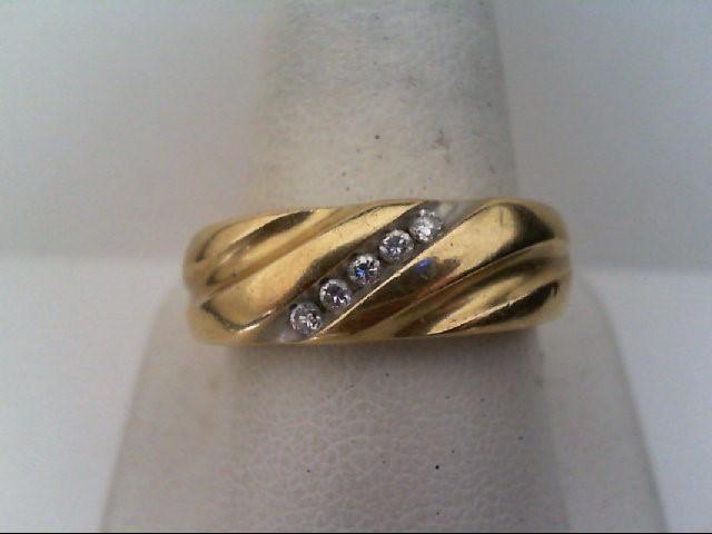 Gent's Diamond Fashion Ring 5 Diamonds .15 Carat T.W. 14K Yellow Gold 7.6g