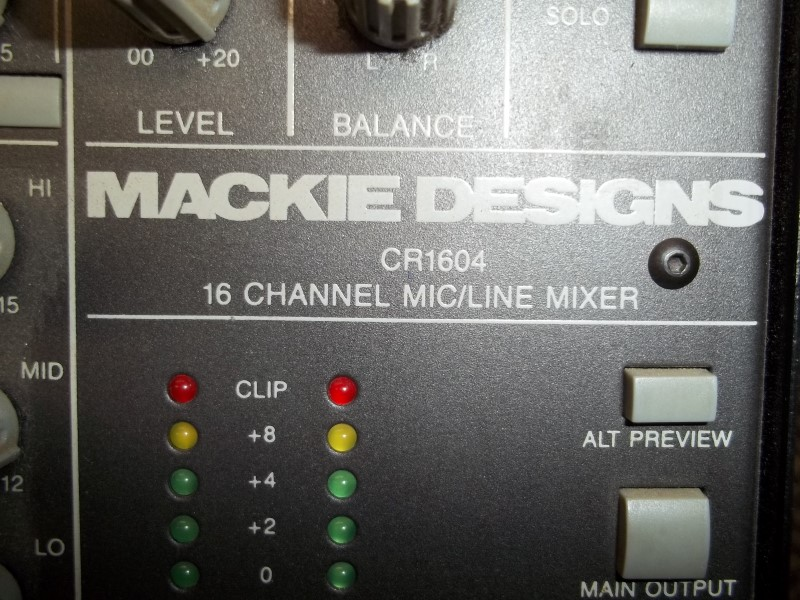 MACKIE MIXER CR1604-VLZ